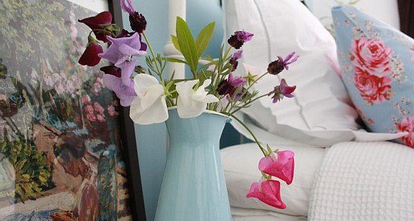 bloemen in slaapkamer trend bij boxspringfabriek