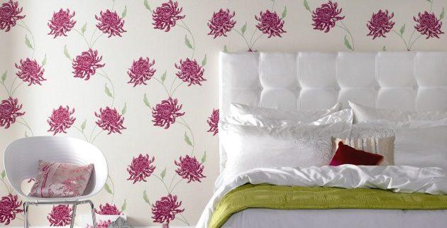 slaapkamer idee bloemen